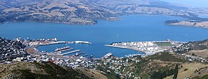 Lyttelton Harbour - Lyttelton Harbour as seen from Mount Cavendish