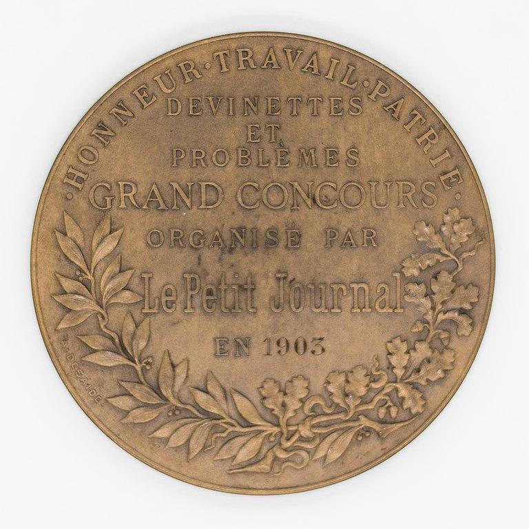 file médaille a desaide 1903 grand concours petit journal avers jpg