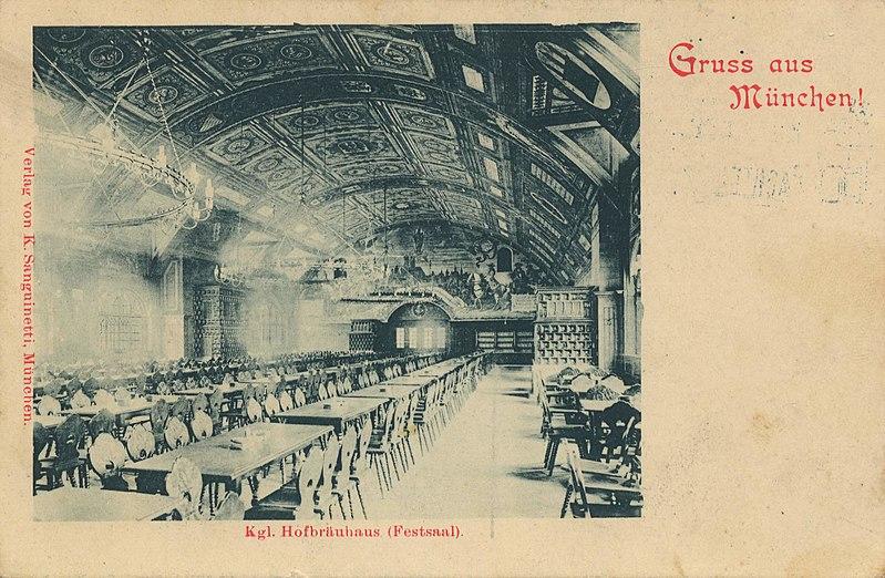 File:München, Bayern - Hofbräuhaus, Festsaal (Zeno Ansichtskarten).jpg