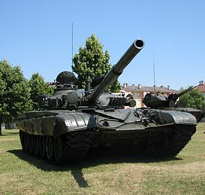 Republic of Croatia Armed Forces - One of 74 Croatian-built M-84A4 ''Sniper'' main battle tanks in service with the Croatian Army.