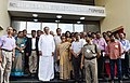 M. Venkaiah Naidu with the scientists and faculty members, at the inauguration of the Facility for Research in Experimental Nuclear Astrophysics (FRENA) at the Saha Institute of Nuclear Physics, in Kolkata.JPG