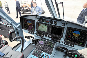Kamov Ka-60 - Ka-62 glass cockpit.