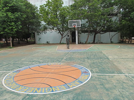 A basketball court in Tamil Nadu, India MECVOLLEYBALL GROUND.JPG