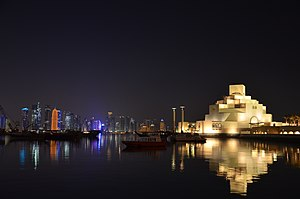 Qatar Museums Authority - The Museum of Islamic Art with Doha skyline in the background