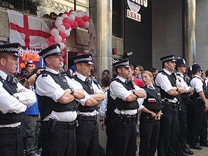 Metropolitan Police Service - Met officers supervising World Cup revellers in 2006.