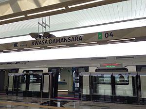 Sungai Buloh–Serdang–Putrajaya MRT line - Image: MRT SBK Kwasa Damansara platform