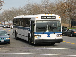 Classic (transit bus) - MCI Classic TC40-102A configured for commuter service