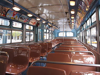 New York City Transit Authority - Interior view of one of the buses from 1958