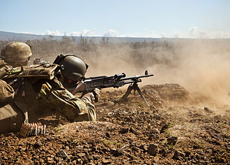 Australian Army - 1 RAR machine-gun team training in Hawaii during RIMPAC 2012