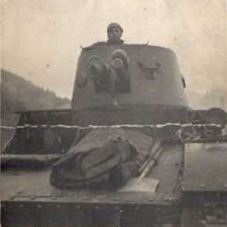 10th Motorized Cavalry Brigade (Poland) - Vickers E tank of the 10th Bde