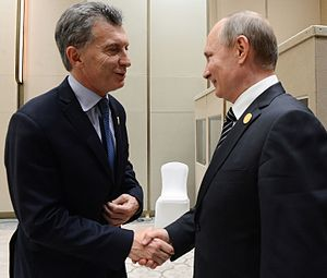 Argentina–Russia relations - President Macri and President Putin in G20 Summit in China, 2016