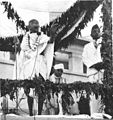 Mahatma Gandhi at the opening ceremony of the Kamala Nehru Hospital in Allahabad.jpg