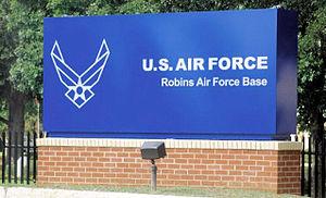 Robins Air Force Base - Robins AFB main gate sign
