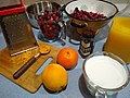 Making cranberry sauce - grated orange rind.jpg