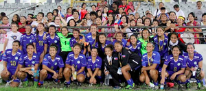 Philippines women's national football team - The Philippines national football team after their away match against Bangladesh on May 25, 2013 at the Bangabandhu National Stadium.