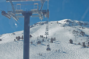 Mammoth Mountain Ski Area - The gondola to the summit
