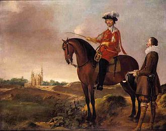 Hans van Steenwinckel the Younger - Hans van Steenwinckel the Younger (right) with Christian IV on horse (1638)