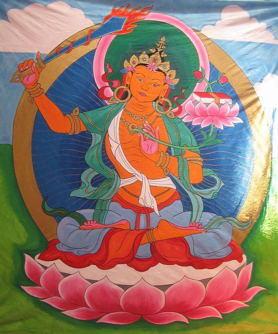 Manjusri Painted