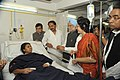 Manmohan Singh meets the bomb blast victims at Yashoda Hospital, in Hyderabad. The Chief Minister of Hyderabad, Shri Kiran Kumar Reddy and the Minister of State for Social Justice & Empowerment (1).jpg