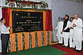Manmohan Singh unveiling the plaque to lay the foundation stone of Phase-1B of Jaipur Metro, at Jaipur, Rajasthan. The Union Minister for New and Renewable Energy, Dr. Farooq Abdullah and the Chief Minister of Rajasthan.jpg