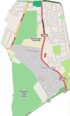 Roehampton - Map of Roehampton - Click to enlarge