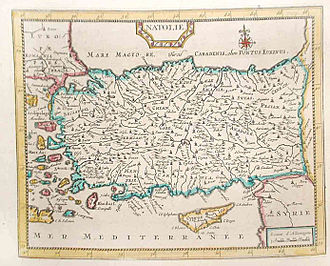Pieter van der Aa - Image: Map of Turkey and Cyprus