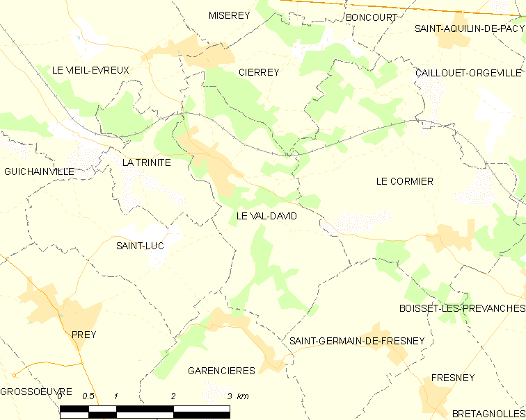 Map commune FR insee code 27668