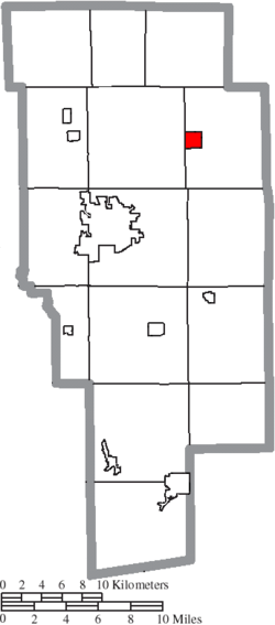 Location of Polk in Ashland County
