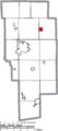 Map of Ashland County Ohio Highlighting Polk Village.png