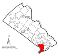 Map of Bensalem Township, Bucks County, Pennsylvania Highlighted.png