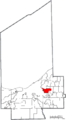 Map of Cuyahoga County Ohio Highlighting Shaker Heights City.png