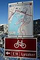Map of Cycling infrastructure in Oslo, Norway (Gang- og sykkelruter i Bjørvika, Oslo. Kart på skilt ved Eufemias gate og Nordenga bru. Sykkelvei, sykkelbane.) 2019-01-13.jpg