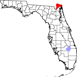 Map of Florida highlighting Nassau County.svg