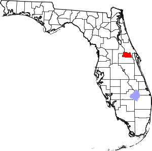 Map of Florida highlighting Seminole County