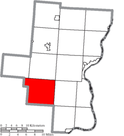 Location of Walnut Township in Gallia County
