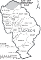 Map of Jackson County North Carolina With Municipal and Township Labels.PNG