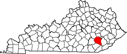 Map of Kentucky highlighting Clay County.svg