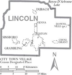 North Park Lincoln >> Lincoln Parish, Louisiana - Wikipedia