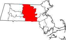 Map of Massachusetts highlighting Worcester County.svg