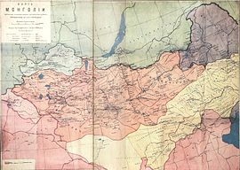 Map of Mongolia (1914) Korostovets, Ilyin's Cartographic Establishment.jpg