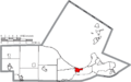 Map of Ottawa County Ohio Highlighting Port Clinton City.png