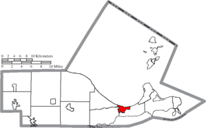 Port Clinton, Ohio - Image: Map of Ottawa County Ohio Highlighting Port Clinton City