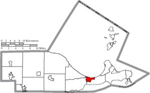 Port Clinton, Ohio - Image: Map of Ottawa County Ohio Highlighting Port Clinton City