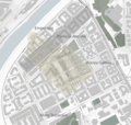 Map of Testaccio, Rome, ancient buildings.png