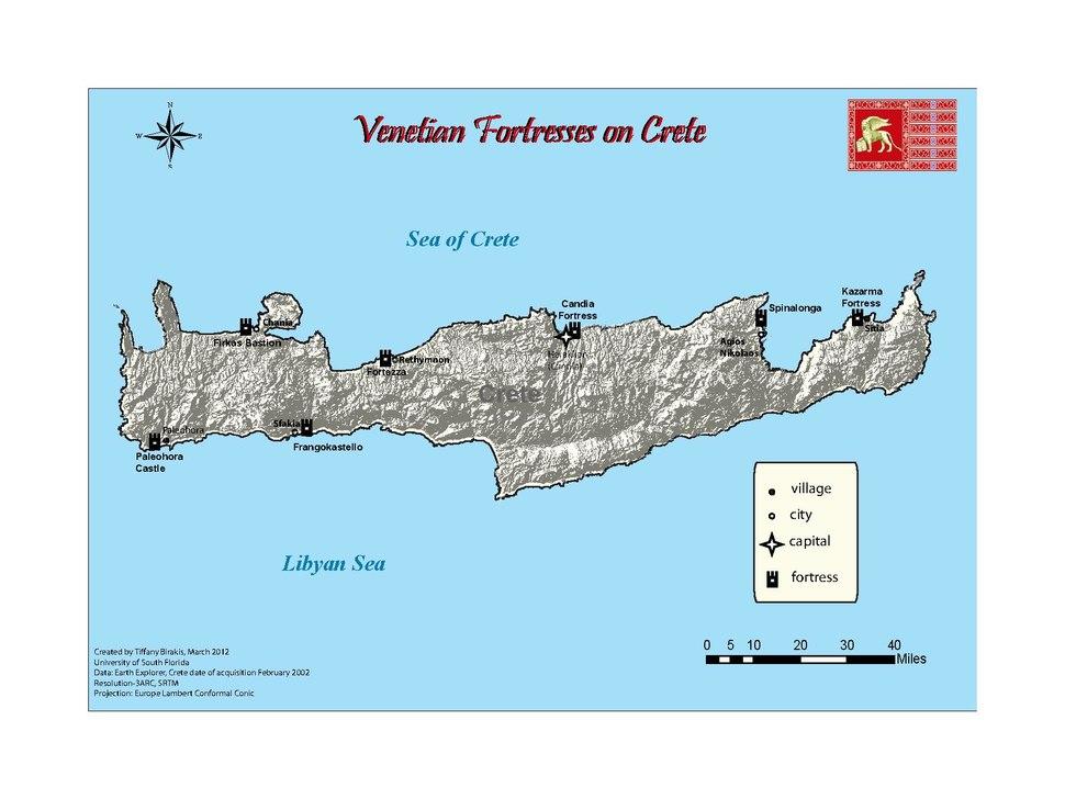 Map of Venetian Fortresses on Crete.pdf