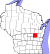 State map highlighting Winnebago County