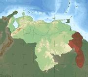 Mapa Venezuela Topografico