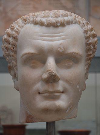 Titus - Marble bust of Titus from Utica (Tunisia), dated 79–81 AD, British Museum