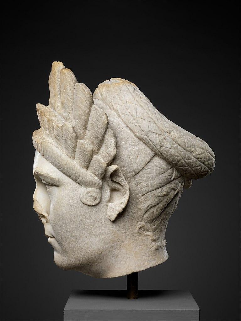 Marble portrait of Marciana, sister of the emperor Trajan, Metropolitan Museum, Rogers Fund, 1920, New York