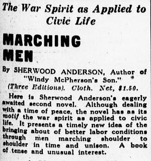 Marching Men - Advertisement for Marching Men in the Philadelphia Evening Public Ledger (15 September 1917)